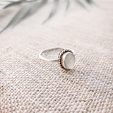 White Mother of Pearl Oval - .925 Sterling Silver Ring
