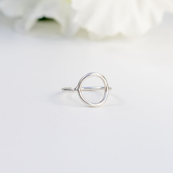 Big Circle Full Moon - .925 Sterling Silver Ring