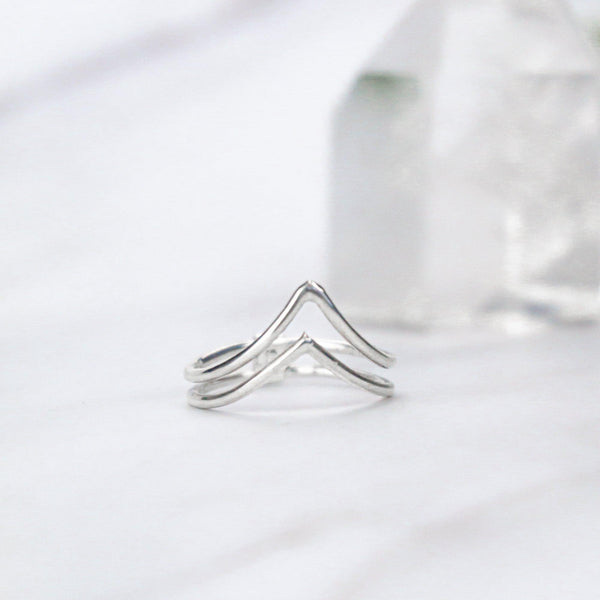 PIYOGA www.piyogapants.com Calming Mountains - Sterling Silver Ring - Jewelry - Rings