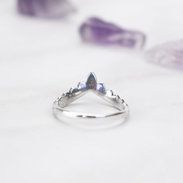 Indian Wedding Crown - .925 Sterling Silver Ring