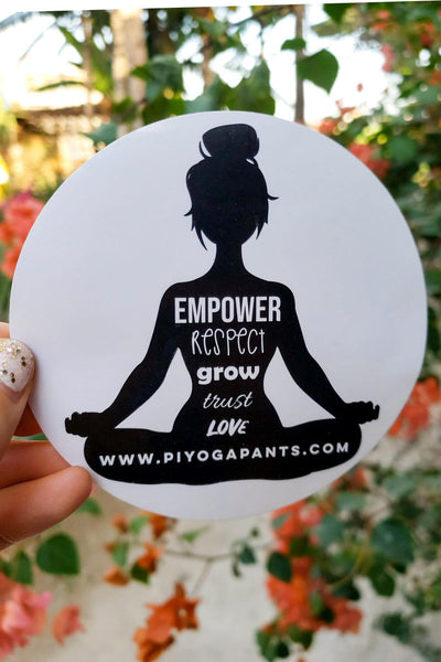 PIYOGA www.piyogapants.com Yoga Girl Sticker - stickers