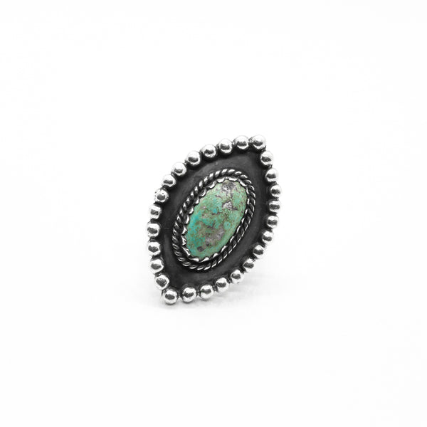 PIYOGA www.piyogapants.com Raw Turquoise Call of the Wild  - Sterling Silver Ring - Jewelry - Rings
