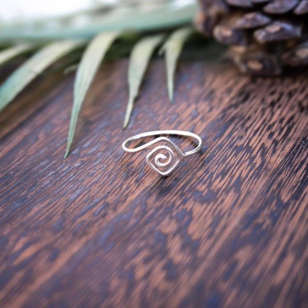 Celestial Spiral - .925 Sterling Silver Ring