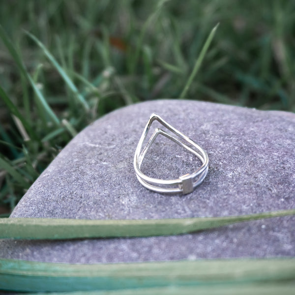 Double Mountain Peak - .925 Sterling Silver Ring