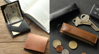 abrAsus Slim Money Clip and abrAsus Small Coin Pouch Now Available in Buttero Leather