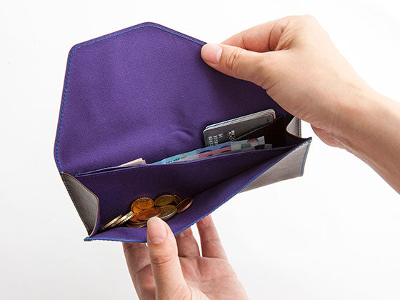 Bills, cards, and coins are visible at a glance. This wallet is a perfect fit for travel or regular use.