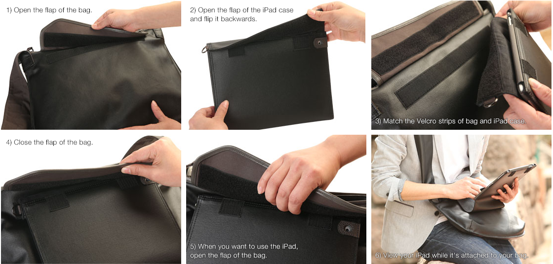 How to attach the iPad case