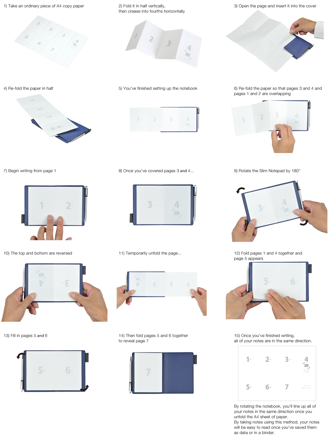 A new concept of a notebook, based on rotation