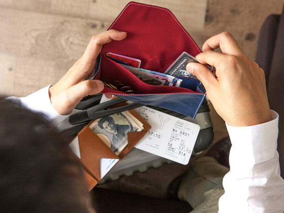 A Travel Wallet for only the things you need most at your destination