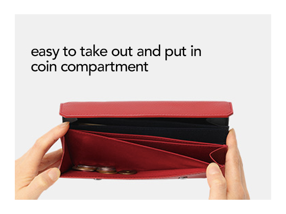 easy to take out and put in coin compartment