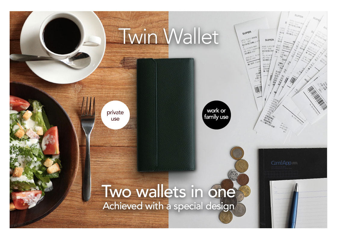 Twin Wallet - Two wallets in one - achieved with a special design