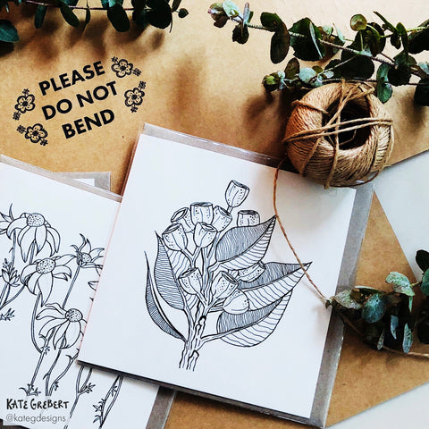 Botanical Greeting Cards - Handcrafted - Packaged by hand