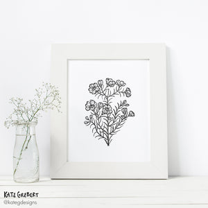 Wall Art - Botanical Art Print - Geraldton Wax