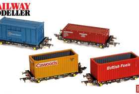 NEW VIDEO! - Accurascale PFA 4 Wheel Container Flats - 00 Gauge