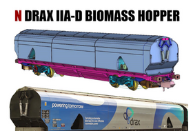 Revolution Trains & Rails of Sheffield announce Drax biomass wagons in N