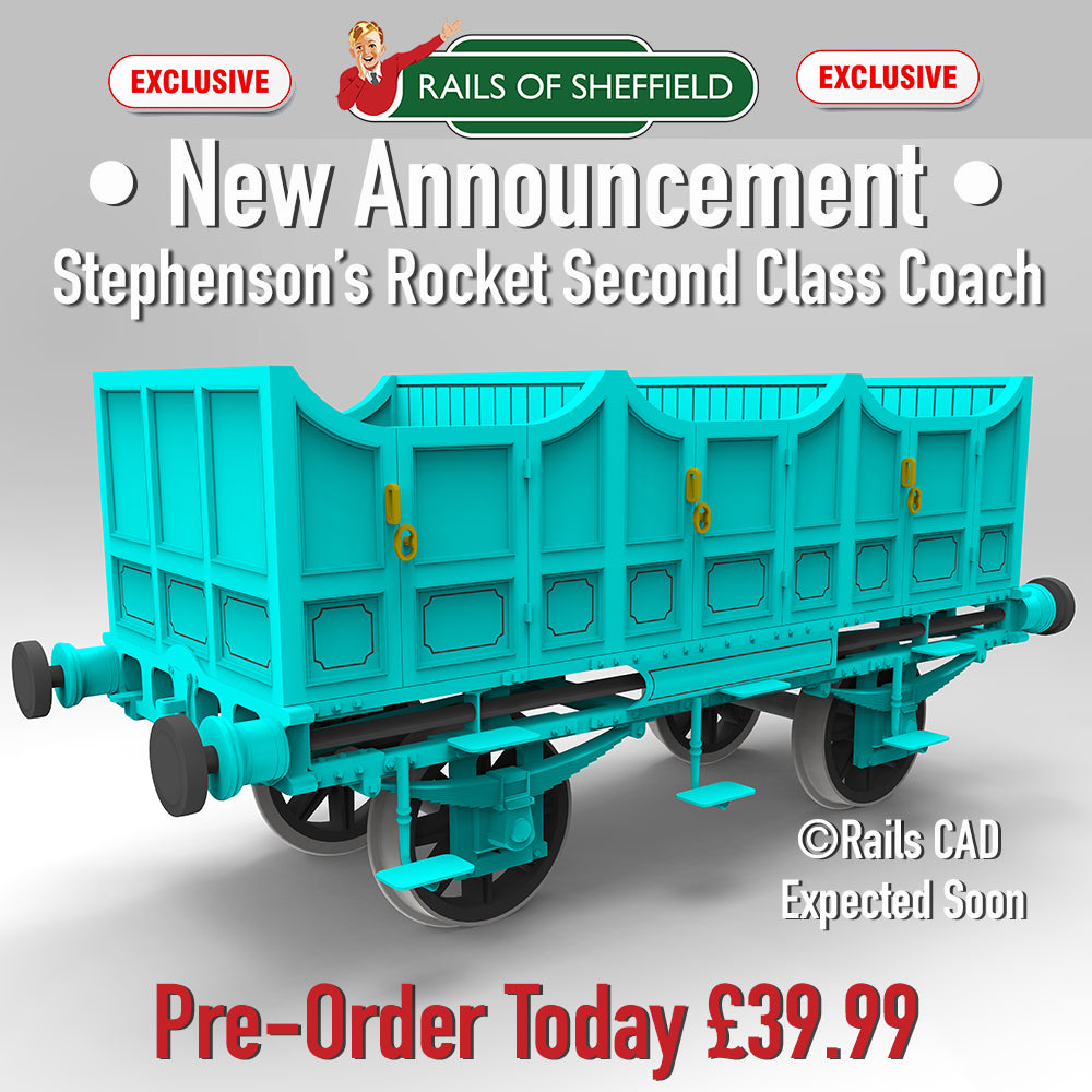 "***CANCELLED*** - Rails of Sheffield - Announce Exclusive Stephenson's Rocket ""Blue Coaches"" in 00"