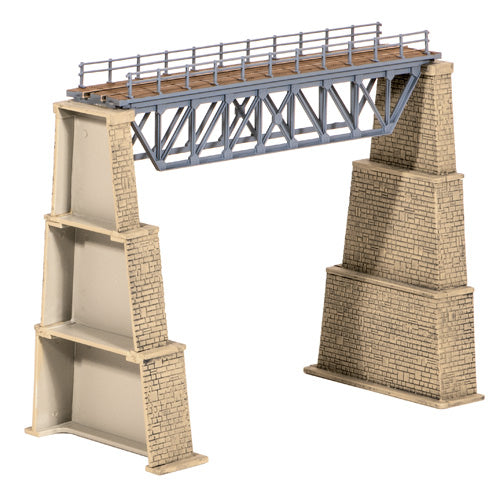 Steel Truss Bridge with Stone Piers