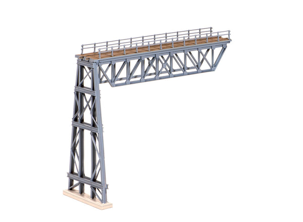 Steel Truss Span with Steel Trestle