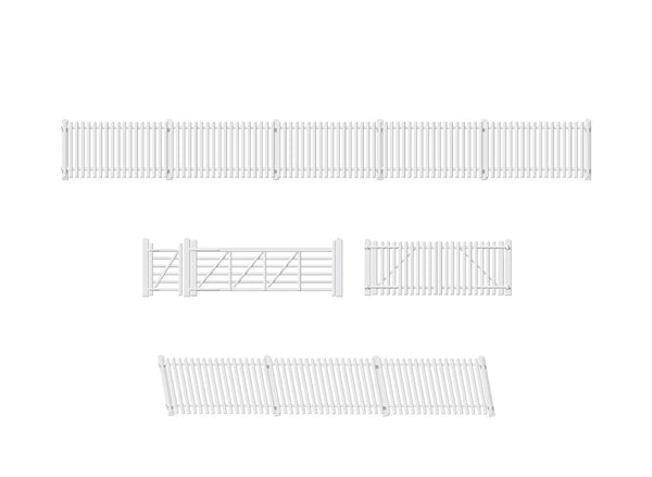 GWR Station Fencing, White