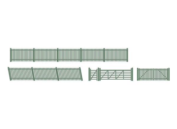 Station Fencing Ramps and Gates, Green