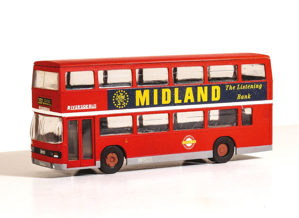Leyland Olympian Double Decker Bus, London Buses Riverside
