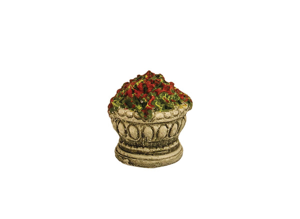 Ornate Garden Urn with Flowering Plants
