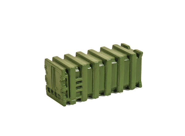 Ribbed Bulk Waste Container, Green