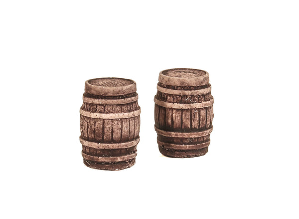 Two Large Oak Casks