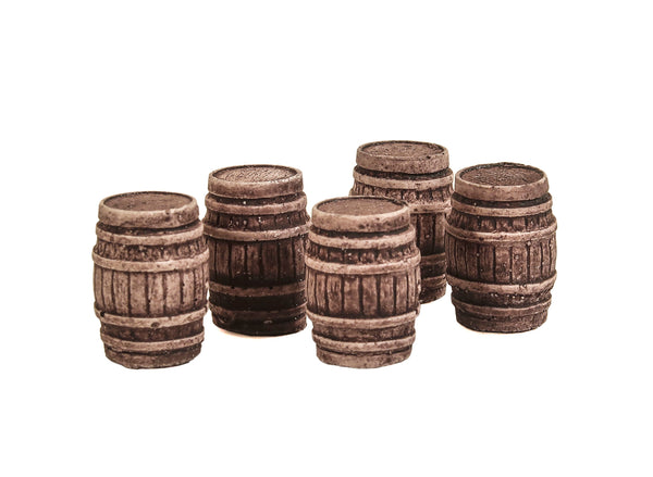 Five Large Oak Casks