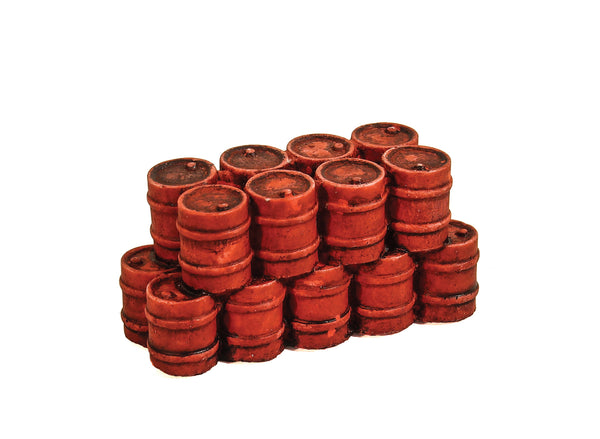 Red Oil Drums