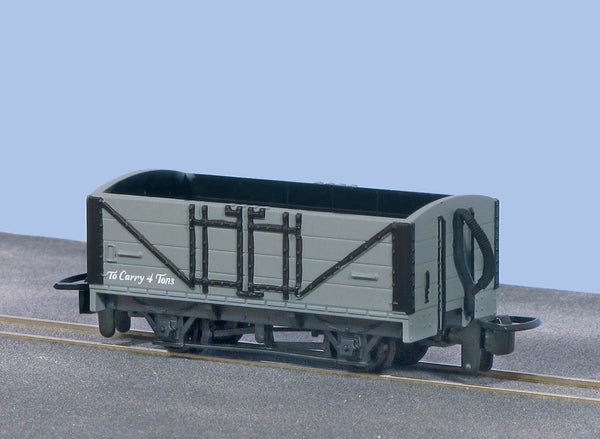 OO-9 Open Wagon Grey Unlettered