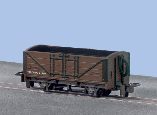 OO-9 Open Wagon Brown Unlettered