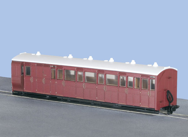 OO-9 Brake Composite Coach Unlettered Indian Red