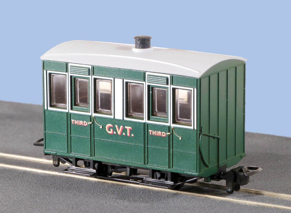 OO-9 4 Wheel Enclosed Side Coach Glyn Valley Tramway