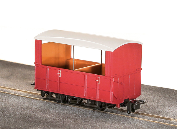 OO-9 4 Wheel Open Side Coach Red