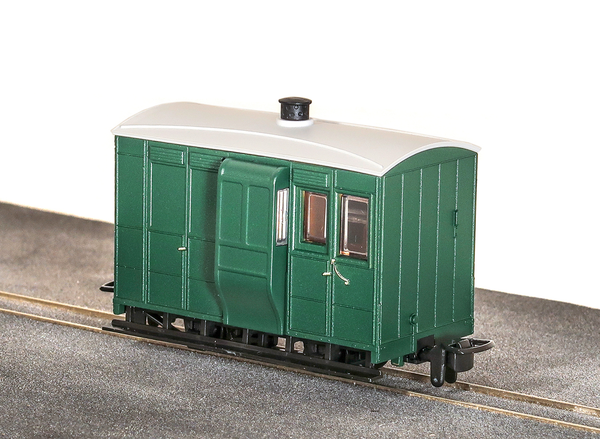 OO-9 4 Wheel Brake Coach Green