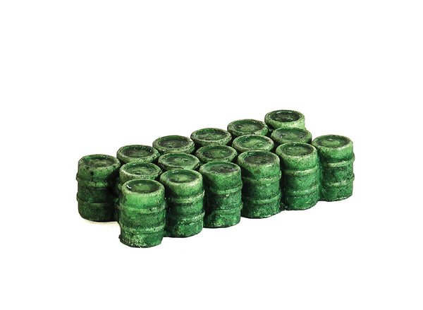 OIl/Chemical Drums Grouped Green