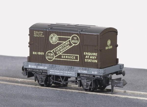 GWR Removals, Conflat Wagon with Container