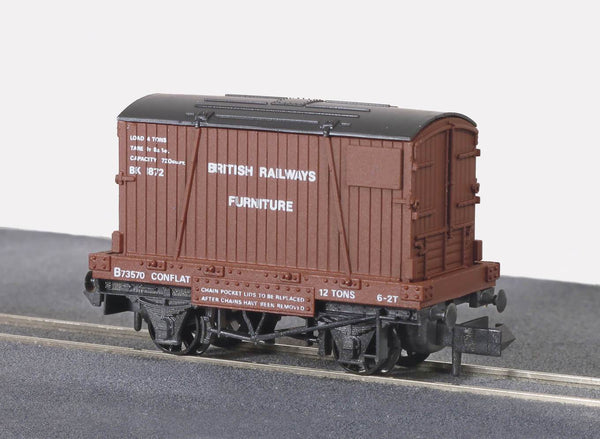 BR Removals Conflat Wagon with Container
