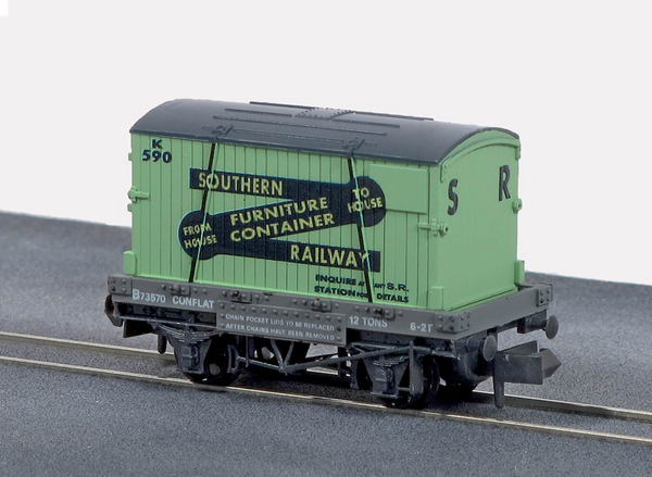 SR Furniture Removals Conflat Wagon with Container