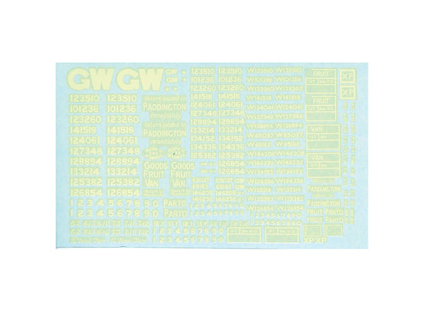 GWR/BR Box and Fruit Van Transfers (Waterslide)