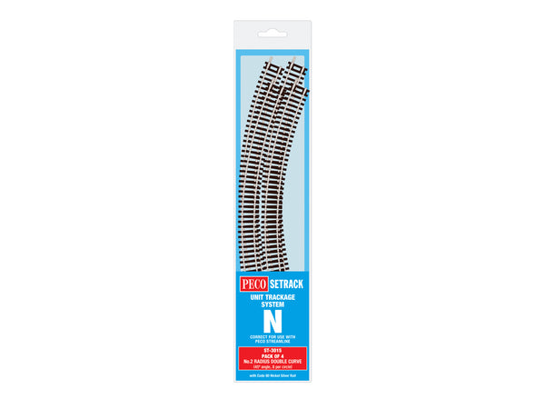 Double Curve, 2nd Radius (Pack of 4)