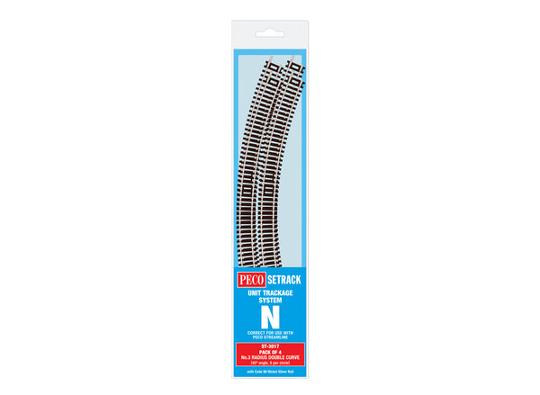 Double Curve, 3rd Radius (Pack of 4)