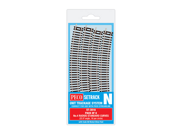 Standard Curve, 4th Radius (Pack of 8)