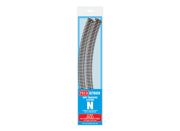 Double Curve, 4th Radius (Pack of 4)