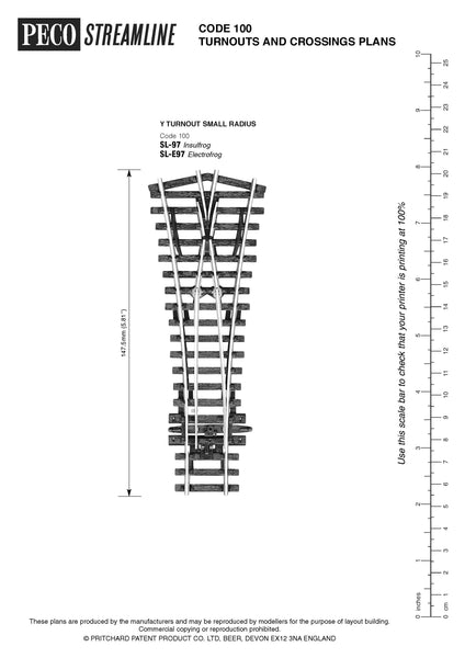 picture regarding Printable N Scale Track Template identify Switch out crossing packages PECO