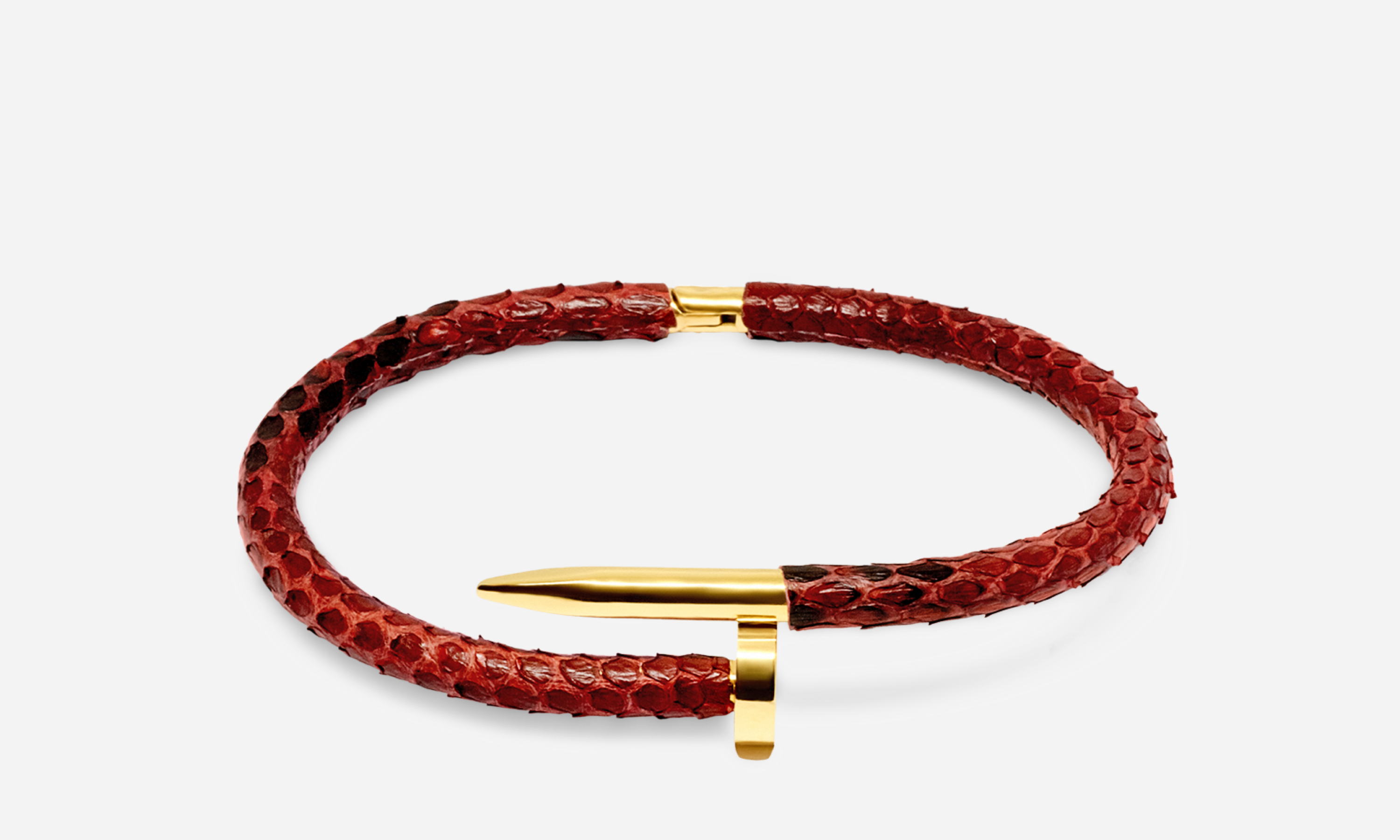 Red Python Nail - Python Bracelet - Bahr in UAE
