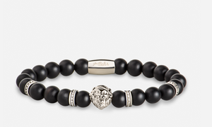 Matte Black - Stone Bracelet - Bahr in UAE