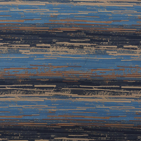 Cross-grain-Blue Oak Drapery Fabric