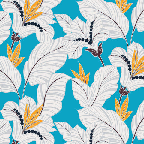 Amazon-Blue Orchid Drapery & Bedding Fabric